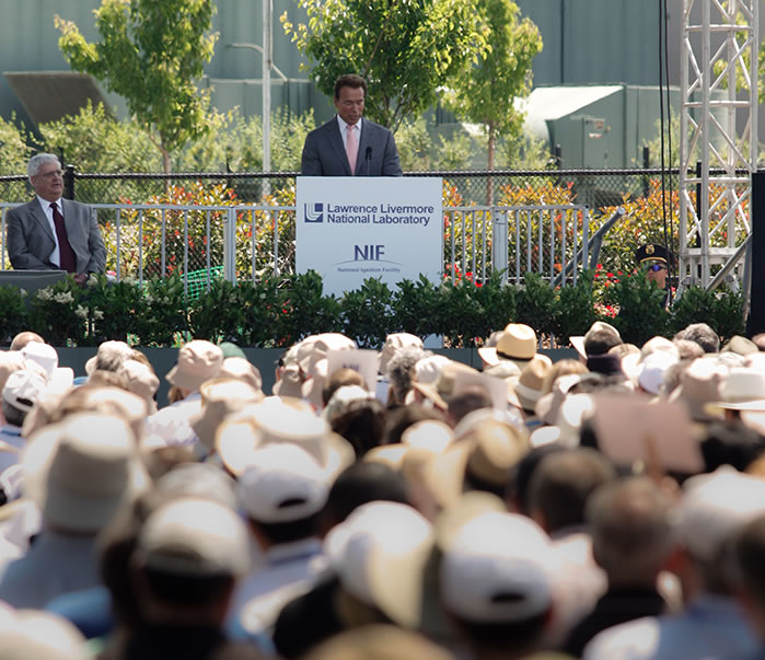 Gov. Schwarzenegger Speaks at NIF Dedication