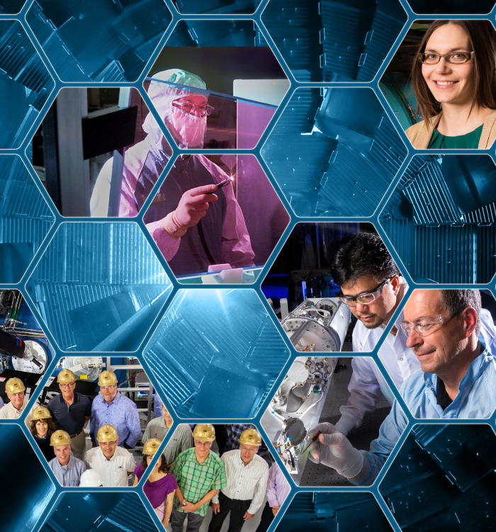 Photo Montage of NIF People at Work
