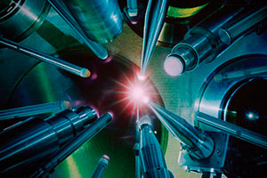 "<h3>The OMEGA Laser</h3>The international inertial confinement fusion community, including LLNL researchers, uses the OMEGA Laser at the University of Rochester's Laboratory for Laser Energetics to conduct experiments and test target designs and diagnostics.<br/><br/><a href=""content/assets/images/media/photo-gallery/large/nif-1109-17880.jpg"" target=""_blank"">Download hi-res image</a><br/><a href=""/media/photo-gallery?id=nif-1109-17880"">Direct Link</a>"