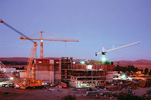 "<h3>NIF at Night</h3>Crews often worked around the clock to build the stadium-size facility. Construction required more than 4,600 metric tons of structural steel and 55,000 cubic meters of concrete.<br/><br/><a href=""content/assets/images/media/photo-gallery/large/nif-1209-18054.jpg"" target=""_blank"">Download hi-res image</a><br/><a href=""/media/photo-gallery?id=nif-1209-18054"">Direct Link</a>"