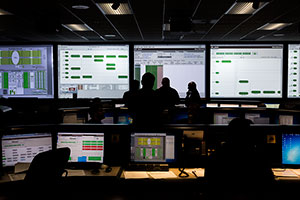 "<h3>Control Room Countdown</h3>LLNL researchers and collaborators from Los Alamos National Laboratory prepare for an experiment. Every aspect of a NIF shot is checked and monitored in NIF's NASA-style Control Room. Credit: Damien Jemison  <br/><br/><a href=""content/assets/images/media/photo-gallery/web/p946960-lg.jpg"" target=""_blank"">Download hi-res image</a><br/><a href=""/media/photo-gallery?id=p946960"">Direct Link</a>"