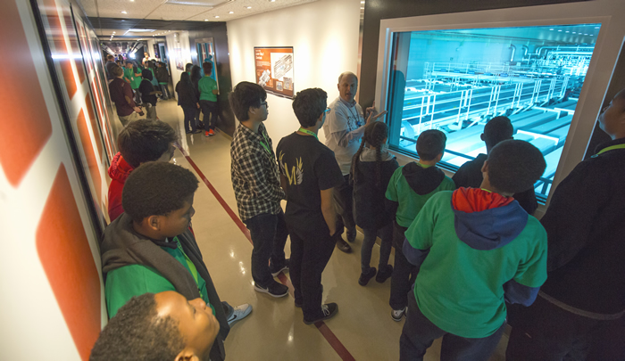 Bay Area Students Tour NIF