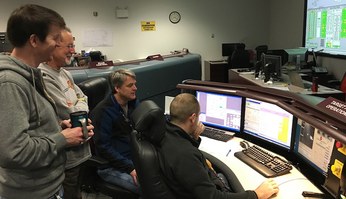 CBI Team in the NIF Control Room