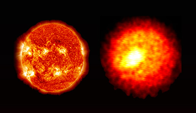 Comparison of the Sun and a NIF Implosion