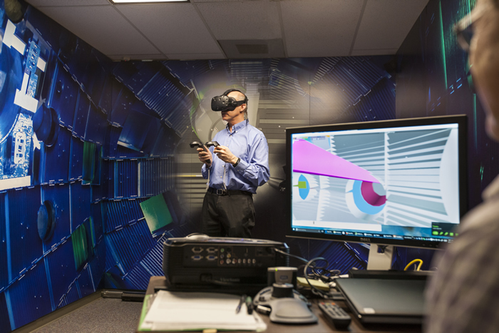 Researcher Tours NIF Target Chamber in Virtual Reality
