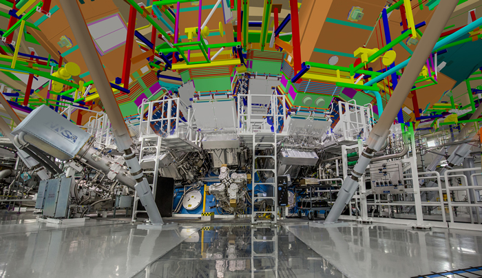 Virtual-Reality Rendering of the NIF Target Chamber