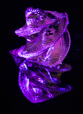 Photo of 3D-Printed Glass Helix