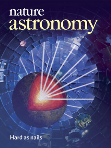 Cover of Nature Astronomy