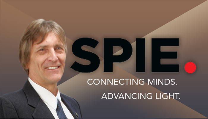 Composite photo Richard Leach and SPIE logo
