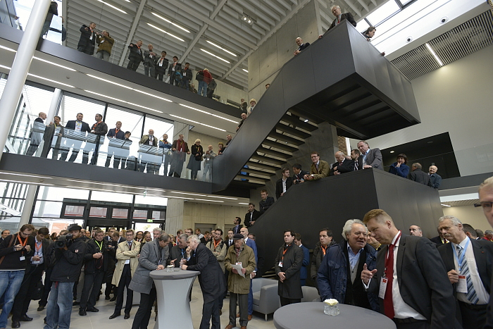 Guests Gather in the ELI-Beamlines Lobby