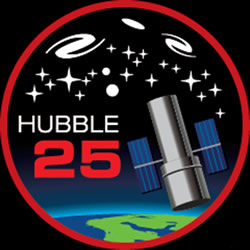 Hubble 25-Year Logo