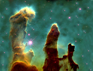 Star-forming Pillars of Creation in the Eagle Nebula