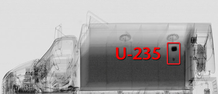 FINDER Image Showing Uranium-235 in Truck
