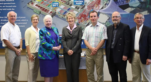 Elizabeth Dowdeswell and Cassie Doyle Visit NIF
