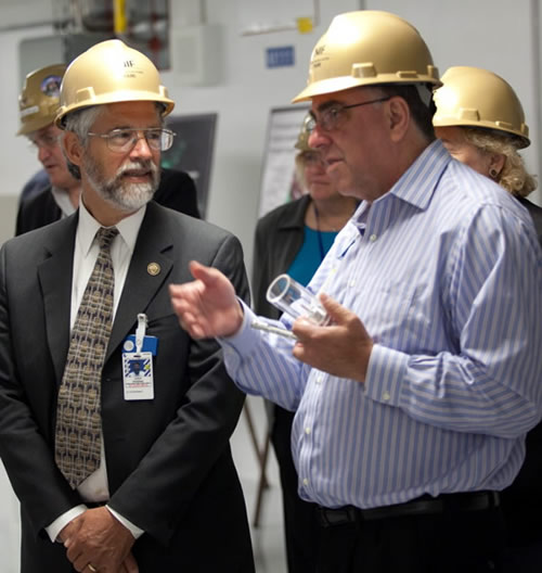 NIF Director Briefs White House Science Advisor