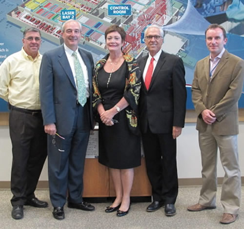 Ellen Tauscher, Norm Pattiz and Ray Rothrock Visit NIF