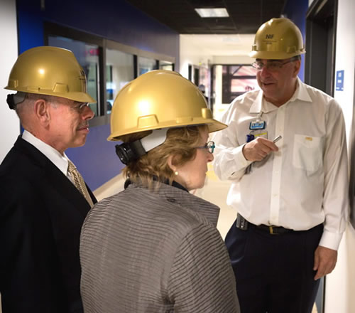 Rep. Henry Waxman and His Wife Janet Visit NIF