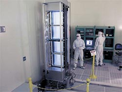 Optical Switch Tested in Cleanroom